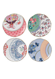 Wedgwood Butterfly Bloom 8.25-in. Plates, Set of 4