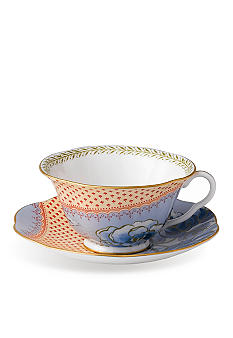 Wedgwood Butterfly Bloom Blue Peony Cup and Saucer