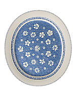 Farmhouse Touch Blue Flowers Oval Platter
