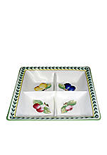 French Garden Square Dinner Plate