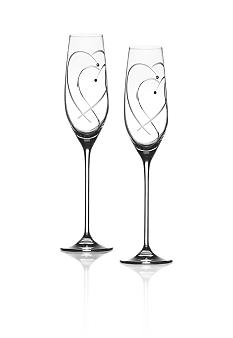Royal Doulton Two Hearts Entwined Flutes - Online Only