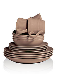 Royal Doulton Gordon Ramsay Maze Taupe 16-Piece Dinnerware Set