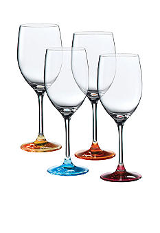 Royal Doulton Set of 4 Assorted Color Wine Glasses - Online Only