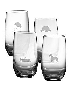 Royal Doulton Set of 4 Motif Hiball Glasses - Online Only