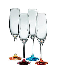 Royal Doulton Set of 4 Assorted Color Flutes - Online Only