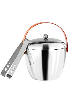 Royal Doulton Orange Ice Bucket with Tongs - Online Only