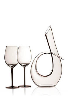 Maxwell & Williams Black Set of 3 Sensations Decanter & Wine Glass Set