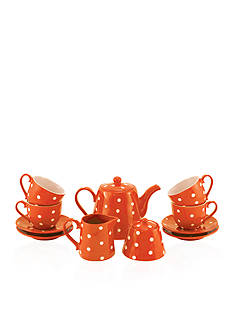 Maxwell & Williams 13-Piece Orange Sprinkle Tea Set