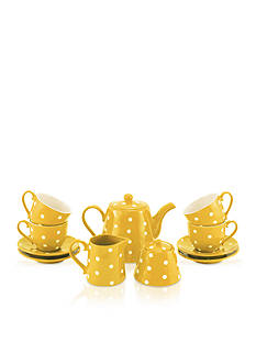 Maxwell & Williams 13-Piece Yellow Sprinkle Tea Set