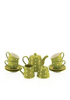 Maxwell & Williams 13-Piece Lime Sprinkle Tea Set