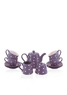 Maxwell & Williams 13-Piece Purple Sprinkle Tea Set