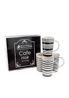 Maxwell & Williams Cafe Noir Set Of 4 Mugs