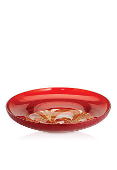 Waterford Evolution Red & Gold Platter 20