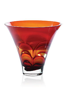Waterford Evolution Red & Amber Bowl