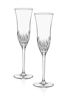 Waterford Lismore Essence Flute Glasses Pair