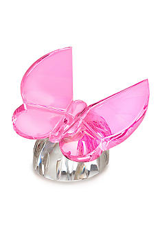 Waterford Butterfly Pink Collectible