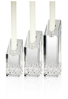 Waterford Lismore Essence Set of 3 Angel Candlesticks