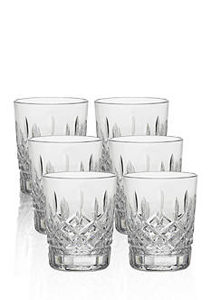 Waterford Lismore Set of 6 Boxed Double Old Fashioned