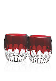 Waterford Mixology Talon Red Double Old Fashioned Set of 2