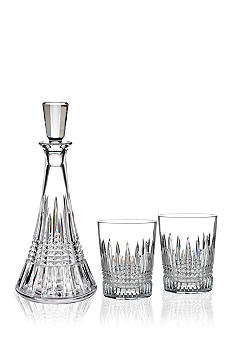 Waterford Lismore Diamond Decanter & DOF Pair