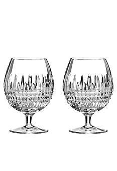 Waterford Lismore Diamond Brandy Pair