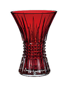 Waterford Lismore Diamond Crimson 8-in. Vase