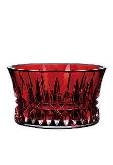 Waterford Lismore Diamond Crimson Nut Bowl