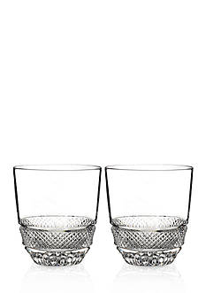 Waterford Town & Country Riverside Drive Set of 2 Double Old Fashion Tumblers