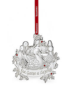 Waterford 2016 Silver Six Geese A Laying Ornament