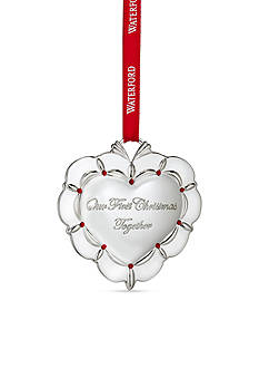 Waterford 2016 Silver Our First Christmas Ornament
