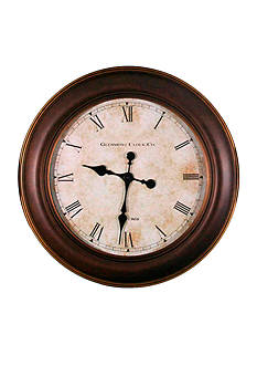 Patton Picture 30-in. Round Glenmont Bronze Roman Numeral Clock