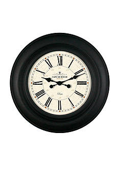 Patton Picture 30-in. Cafe Rouge Black Roman Numeral Clock
