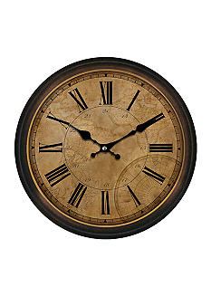 Patton Picture 30-in. Map Clock - Online Only