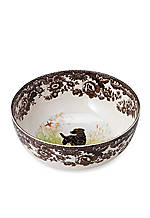Woodland Dog Round Serving Bowl 9.5-in.