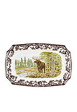 Woodland Moose Rectangular Platter