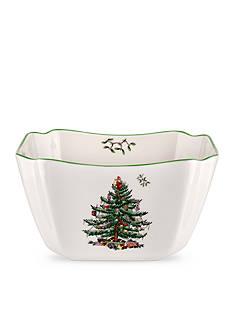 Spode Christmas Tree Small Square Bowl