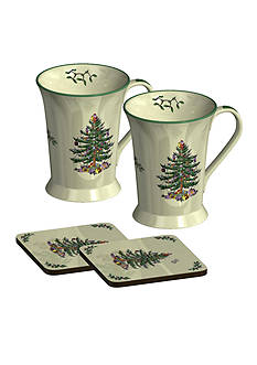 Spode Pimpernel Set of 2 Mugs and 2 Coasters