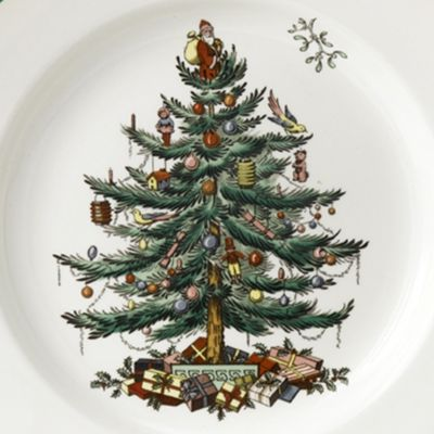 Spode: Green Spode CMAS TREE DINNER