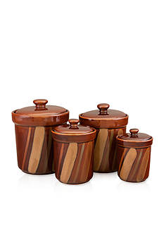 Sango Avanti Brown Set of 4 Canisters - Online Only