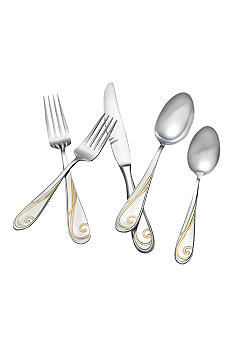 Yamazaki Tableware Golden Wave 5-Piece Place Setting