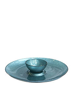 Crystal Clear Notion Blue Chip & Dip Bowl