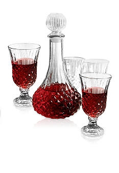 Crystal Clear 5-piece Wine Decanter Set