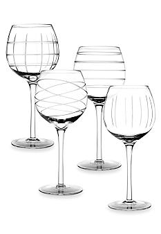 Crystal Clear Medallion Set of 4 Goblets