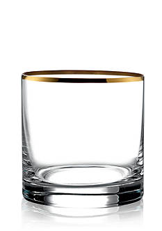 Crystal Clear Michel Gold Double Old Fashion, Set of 4