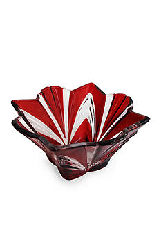 Crystal Clear Aurora Ruby 12-in. Bowl