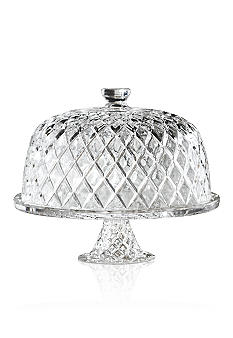 Crystal Clear Muirfield Cake Plate with Dome