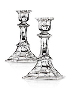 Crystal Clear Newport 9.75-in. Candle Holder Pair