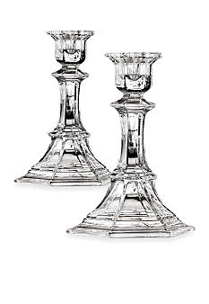 Crystal Clear Newport 5.75-in. Candle Holder Pair