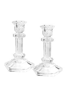 Crystal Clear Regal Set of 2 Candle Holders