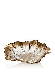Crystal Clear Venezia Gold Flower Bowl